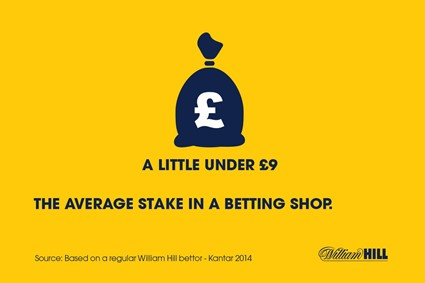 About average stake in a betting shop...