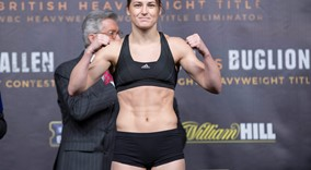 Katie Taylor and Viviane Obenauf  Weigh in  sw3 FREEPIX
