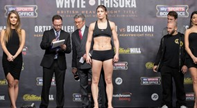 Katie Taylor and Viviane Obenauf  Weigh in sw1 FREEPIX