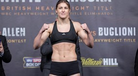 Katie Taylor and Viviane Obenauf  Weigh in sw2 FREEPIX